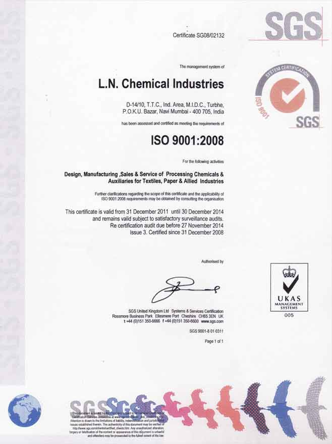 Speciality Chemicals, Textile Chemicals, Paint & Paper Chemicals