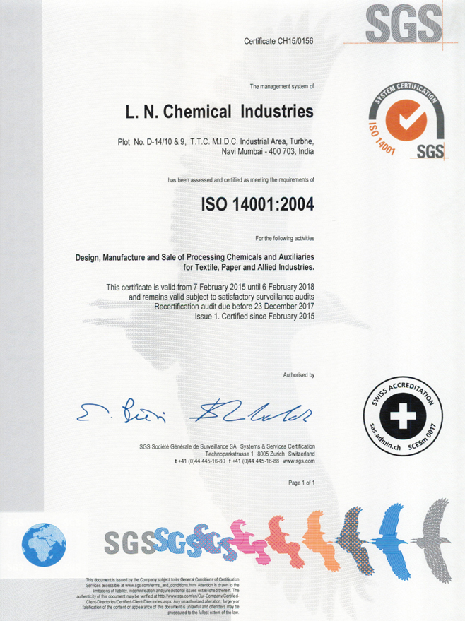 Profile - L  N  Chemical Industries, Mumbai, Maharashtra, India